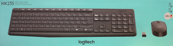 Logitech Wireless Keyboard+Mouse MK235 black retail